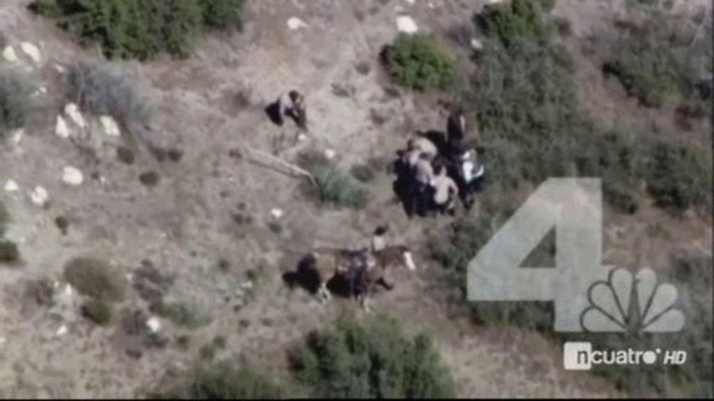 Policías de California apalean a un fugitivo