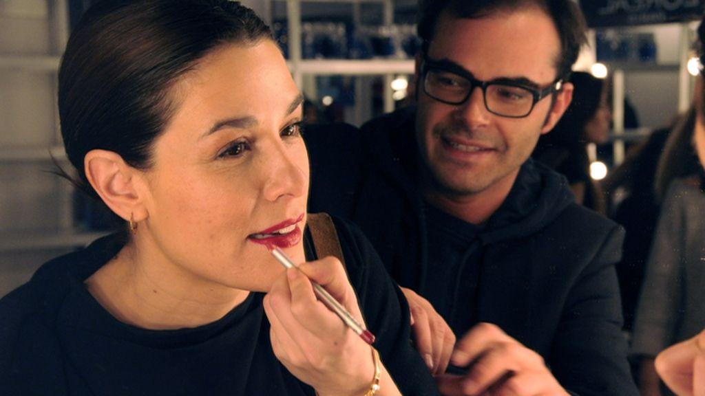 Ion Fiz comprobó personalmente el maquillaje de Raquel Sánchez Silva