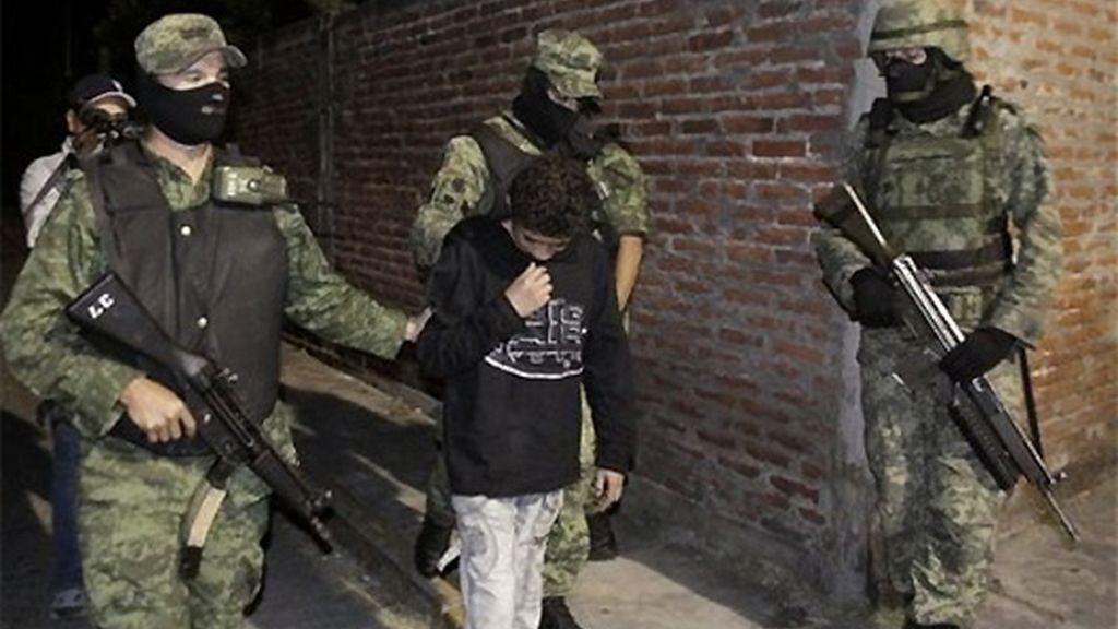 'El Ponchis', en el momento de su detención. FOTO: AP.
