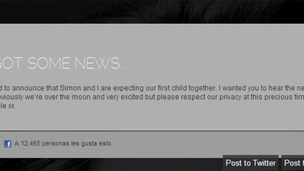 Adele anuncia que espera su primer hijo