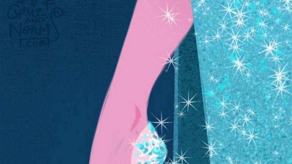 Elsa, la dama de frío, inspirada en el glamour de Louboutin