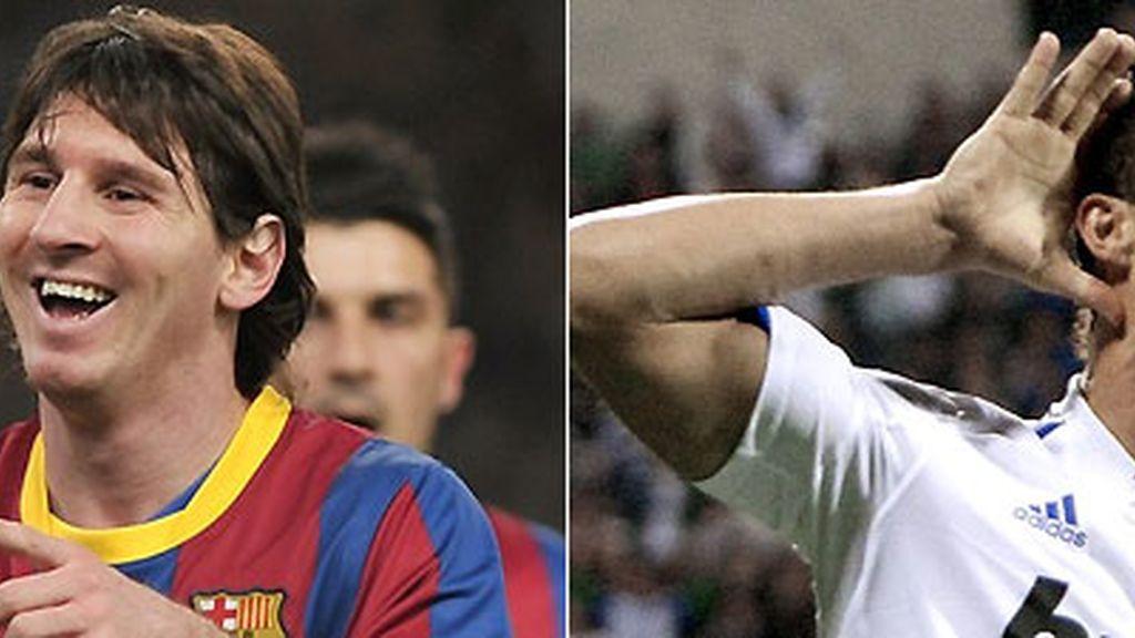 Messi y Cristiano simbolizan la igualdad que se vivirá en este Clásico. FOTOS: Archivo.