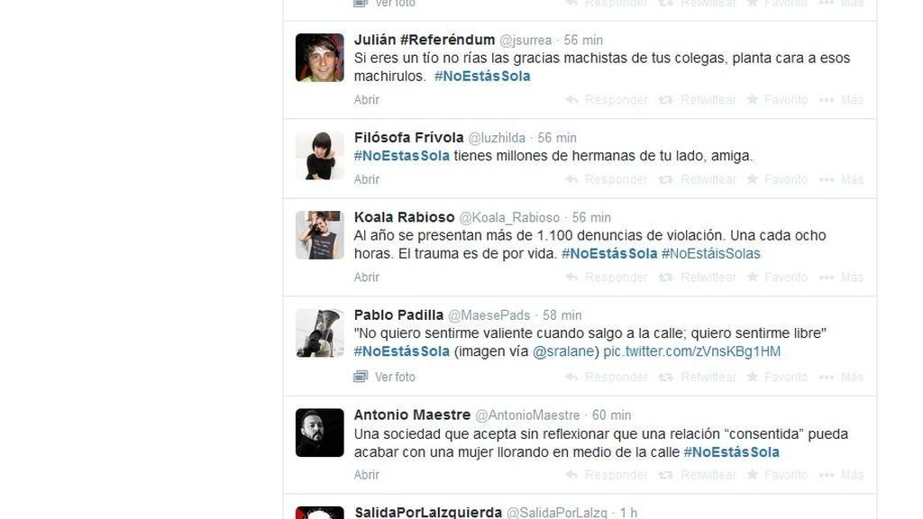 """Las redes sociales se movilizan para decirle a cada víctima de violación """"#NoestásSola"""""""