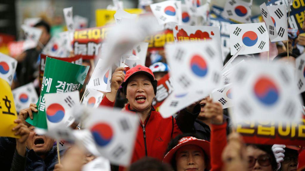 Corea del Sur en contra de su Gobierno