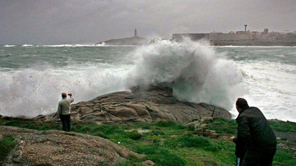 Fuertes vientos en Galicia