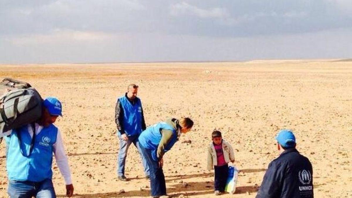 Marwan, un niño de cuatro años perdido en el desierto huyendo del infierno sirio