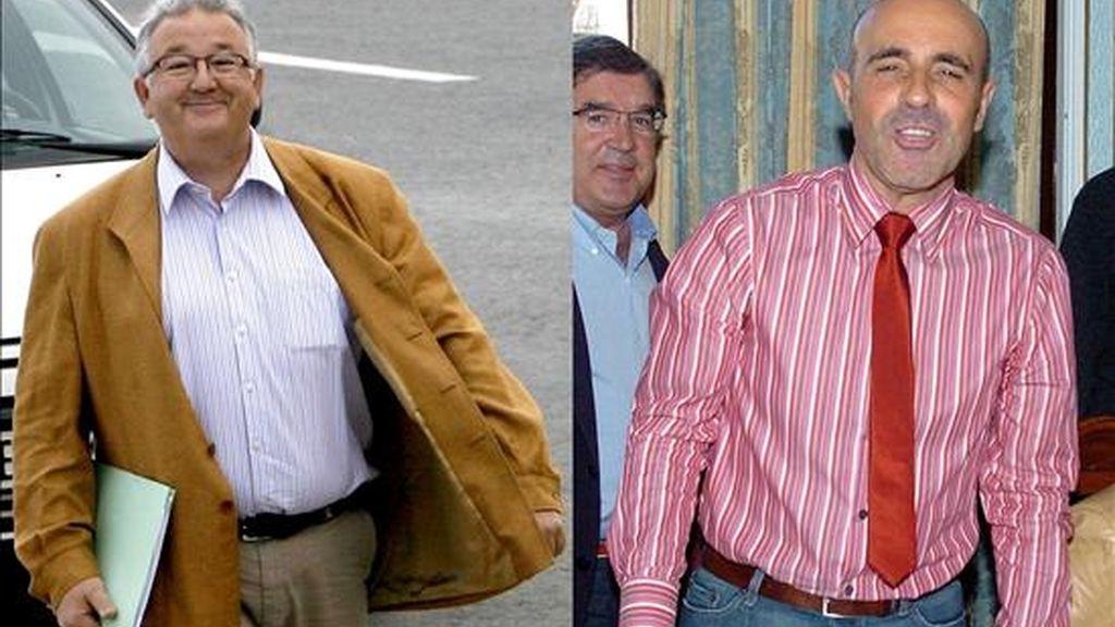 El alcalde de Castro Urdiales, Fernando Muguruza (i), y el concejal de Obras, Rufino Díaz Helguera (d). EFE/Archivo