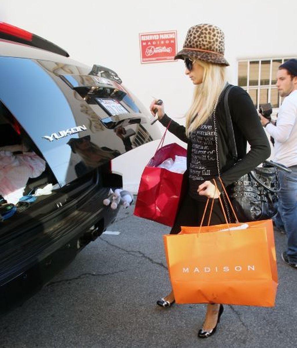 Los leggins transparentes de Paris Hilton