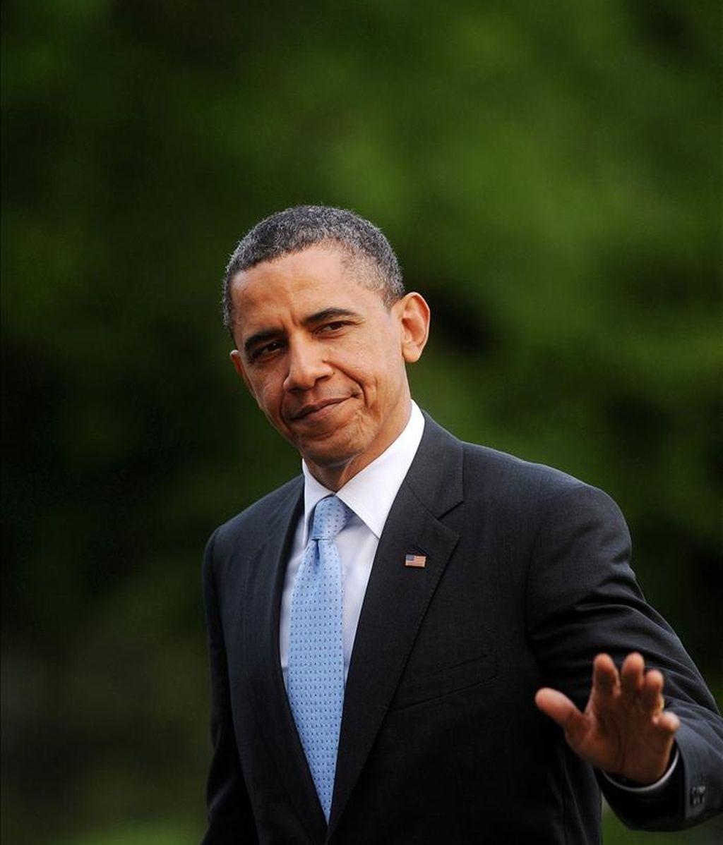"""""""Creemos que tuvo que haber algún tipo de red de apoyo a Bin Laden dentro de Pakistán"""", afirmó el presidente de EE.UU., Barack Obama, en su primera entrevista tras anunciar la muerte del jefe de Al Qaeda el pasado domingo. EFE/Archivo"""