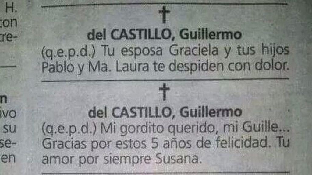 Esquela Guillermo del Castillo