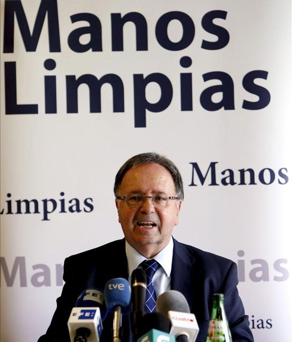 Miguel Bernard, representante del sindicato Manos Limpias. EFE/Archivo