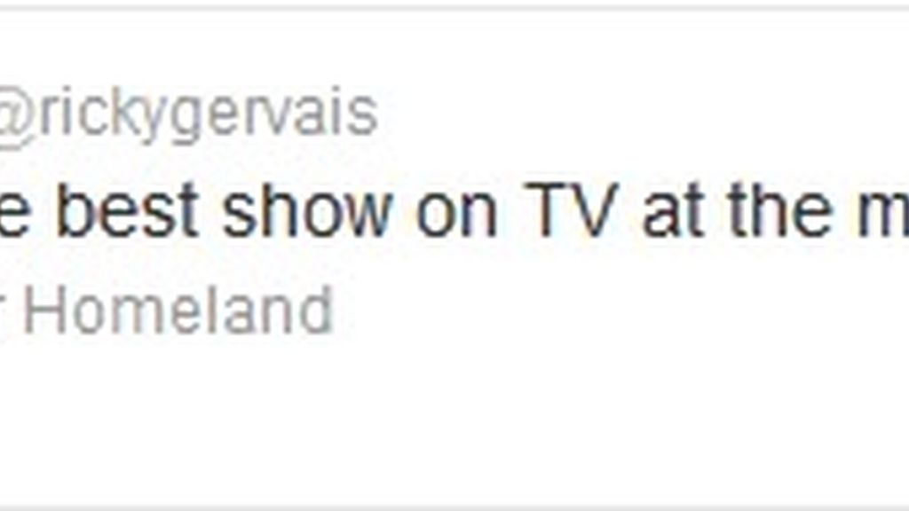 Twitter Ricky Gervais (Homeland)
