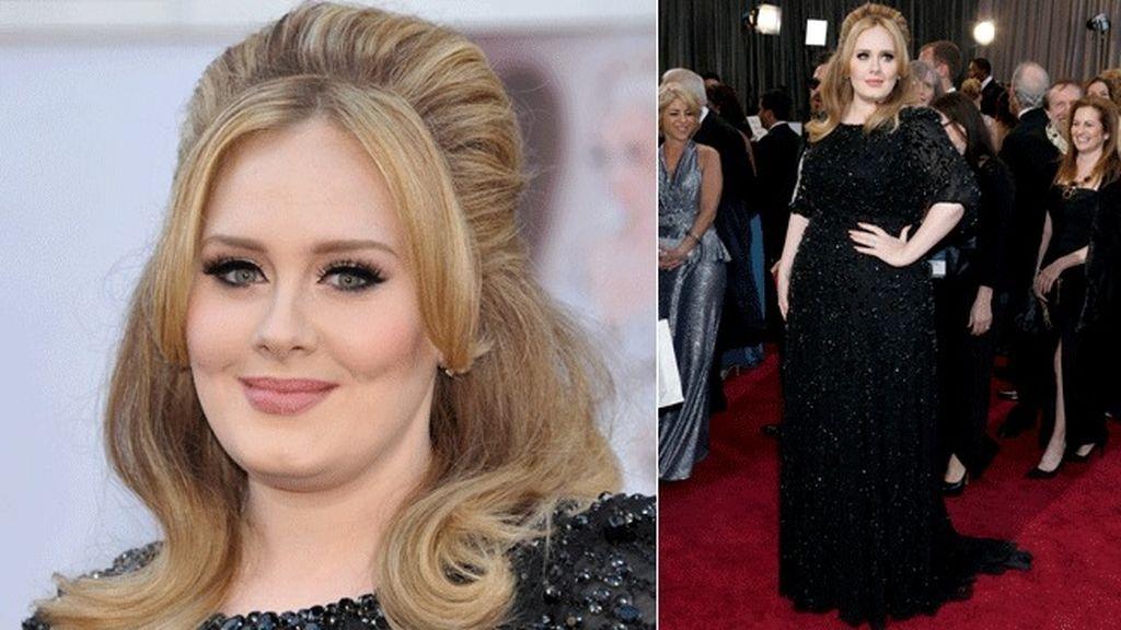 Adele con una apuesta favorecedora de Jenny Packham