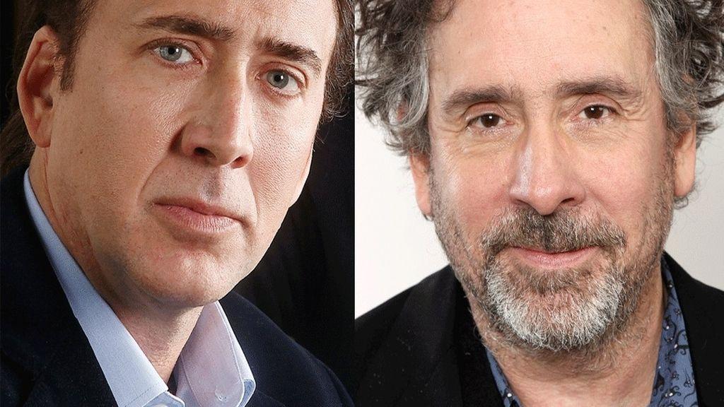 Nicolas Cage y Tim Burton