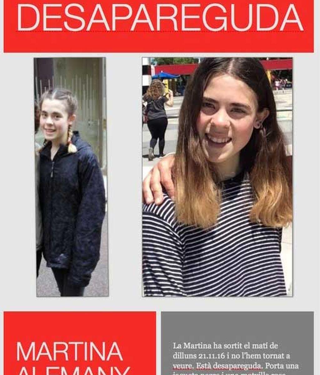 Martina Alemany Casas, desaparecida en Barcelona