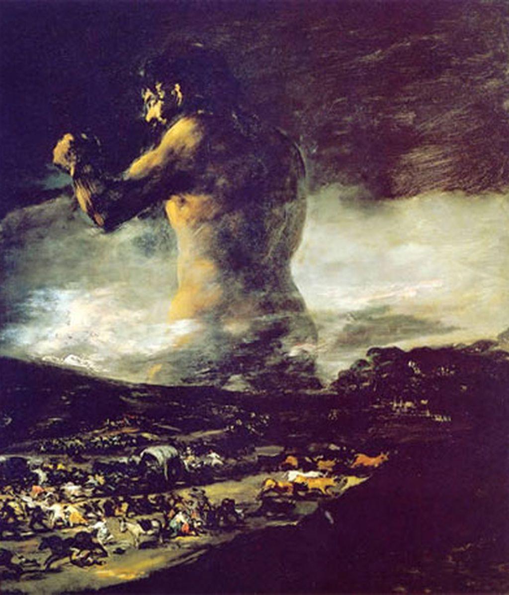 'El Coloso' fue pintado entre 1808 y 1812.