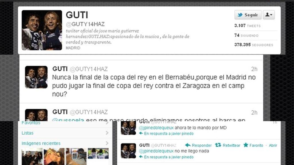Twitter de Jose María Gutierrez 'Guti'