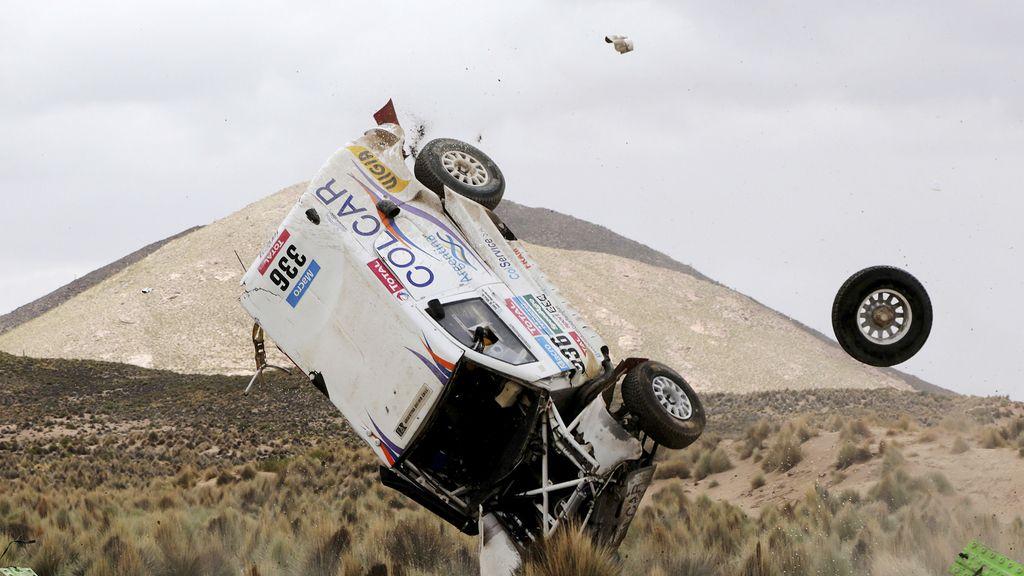 A pesar del aparatoso accidente, ambos pilotos salieron ilesos