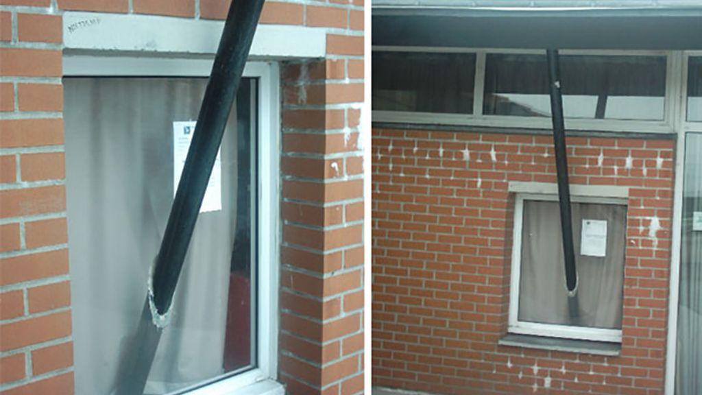 Unas ventanas con soportes