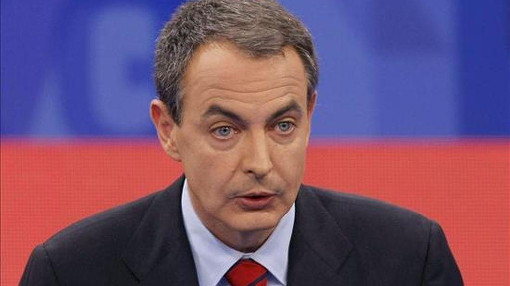 En la imagen, el presidente del Gobierno, José Luis Rodríguez Zapatero. EFE/Archivo