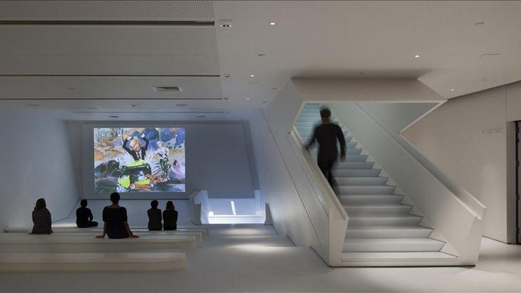 Fotografía cedida que muestra el pequeño anfiteatro de proyección de videos del Museo de la Imagen en Movimiento de Nueva York (EEUU). EFE