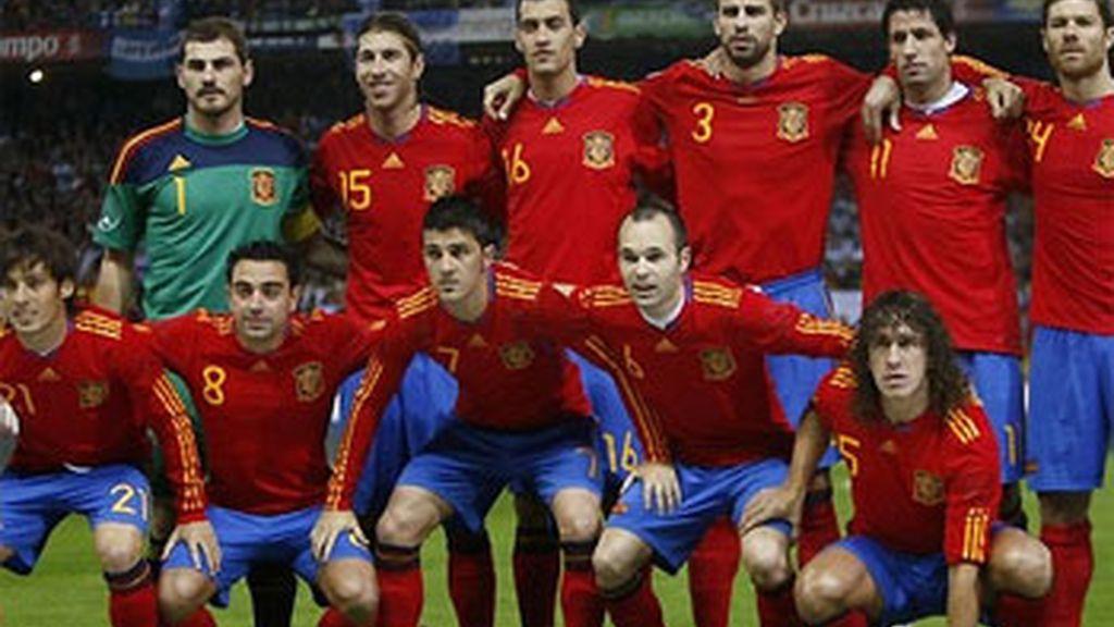 Selección española de fútbol.