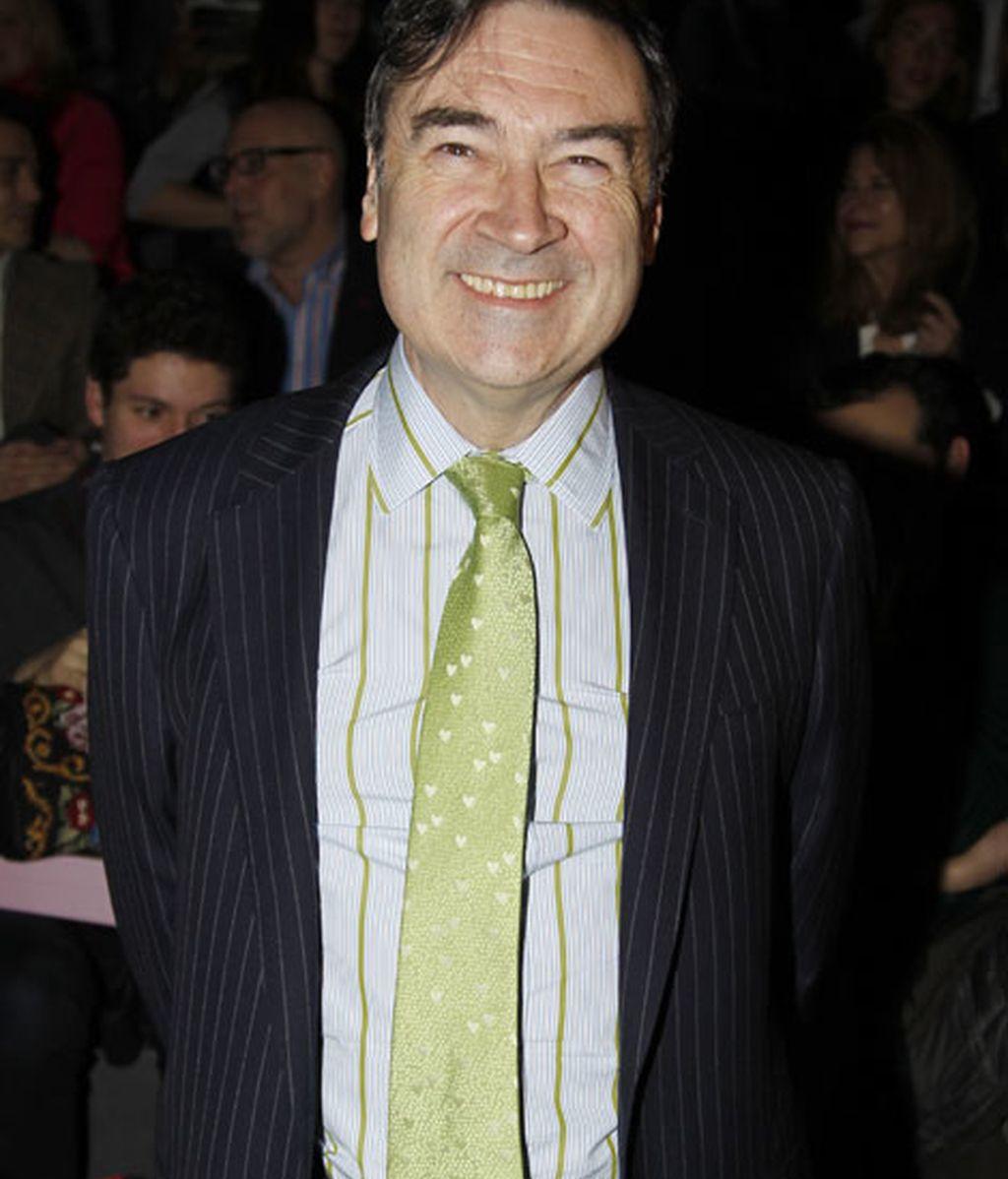 Pedro J. Ramirez en el desfile de Ágatha Ruiz de la Prada