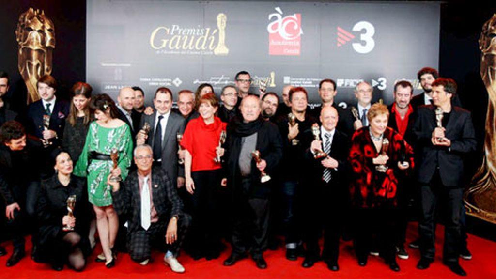 Todos los premiados en los premios Gaudí de Cine. Foto: EFE