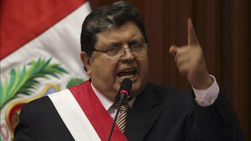 En la imagen, el presidente peruano, Alan García. EFE/Archivo