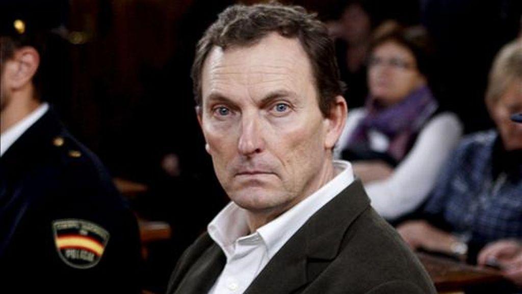 Santiago Mainar, acusado del crimen del alcalde de Fago Miguel Grima, en la sala de vistas de la Audiencia de Huesca. EFE/Archivo