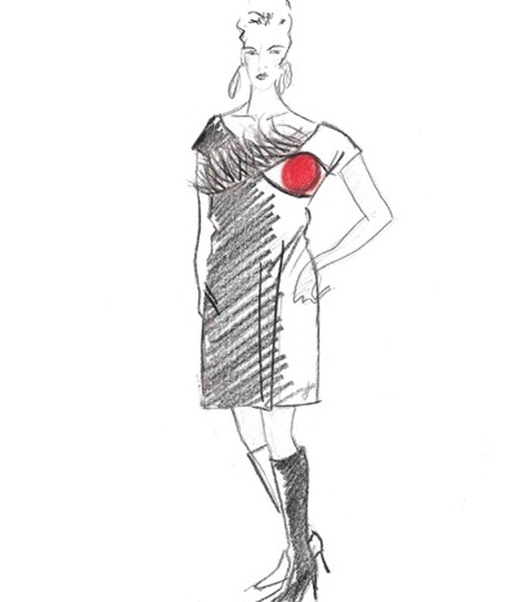 Los bocetos para el estilismo de Mercedes Milá en GH 12