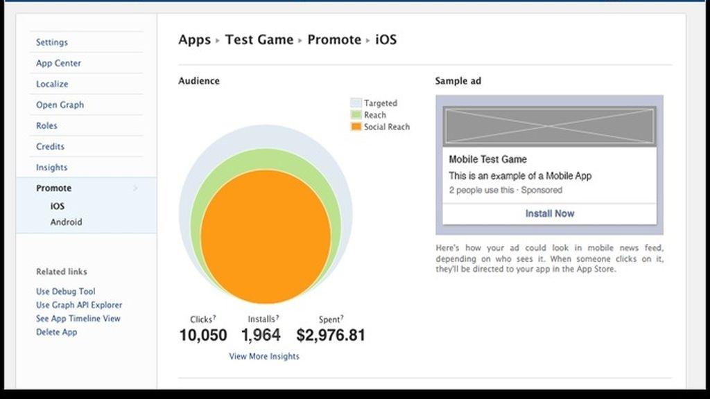 Facebook presenta una nueva herramienta para anunciar aplicaciones móviles