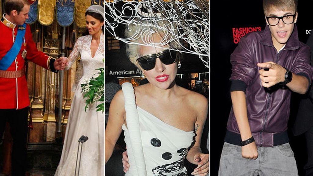 Lady Gaga, Justin Bieber y los Duques de Cambrigde, nuevos reyes de internet