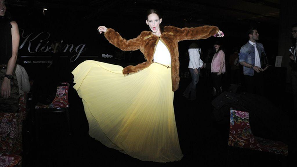 Ana Polvorosa acudió como una auténtica musa con esta vaporosa falda de Mango