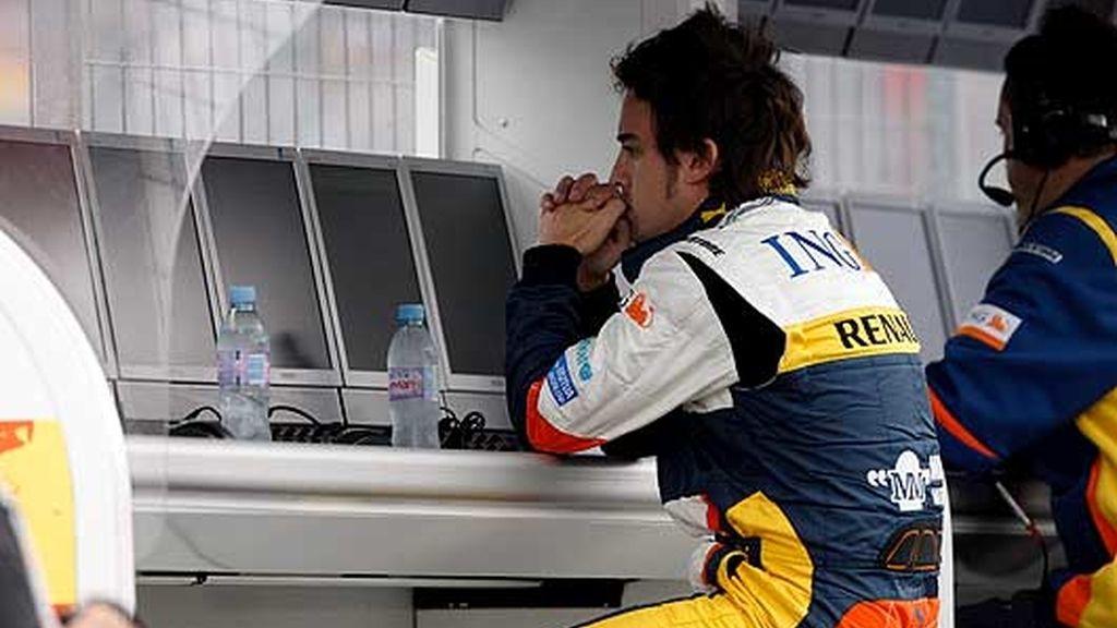 Alonso, decepcionado en Canadá. FOTO: EFE.