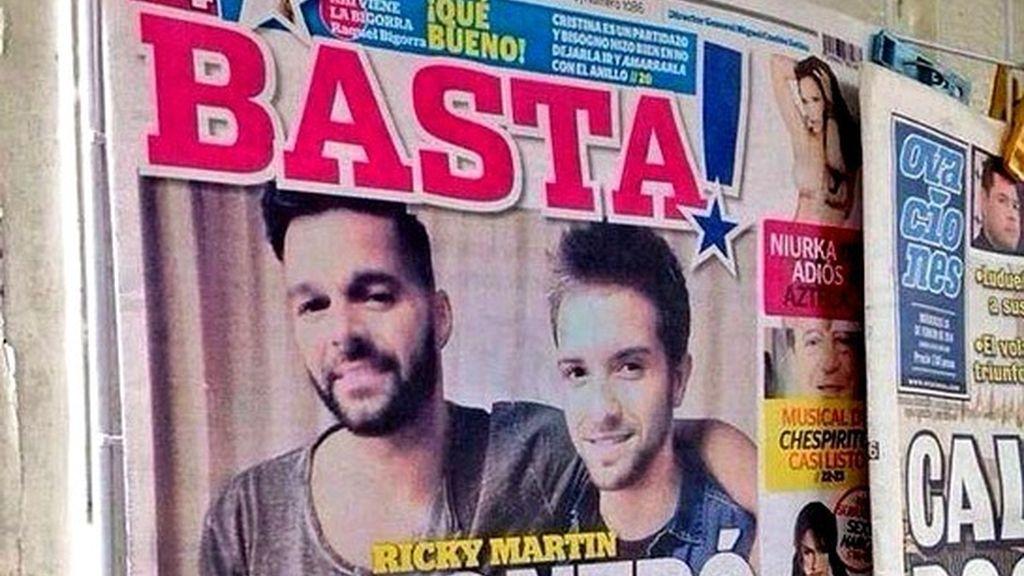 La portada Basta asegura que Ricky Martin ha encontrado nuevo amor, Pablo Alborán