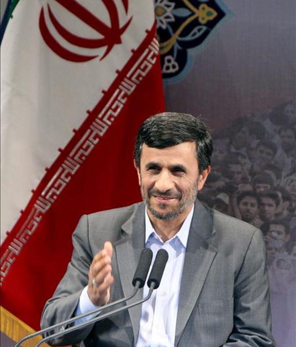 El presidente iraní, Mahmoud Ahmadinejad. EFE/Archivo
