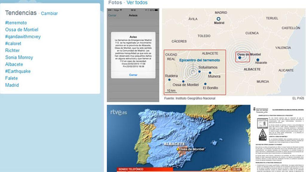 El terremoto de Ossa de Montiel (Albacete) hace temblar las redes sociales