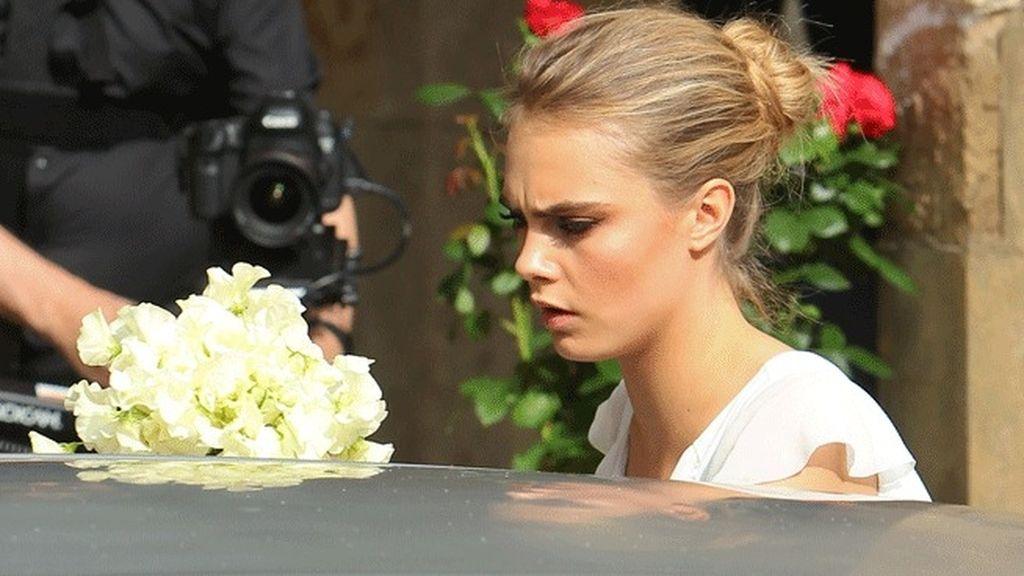 Cara Delevigne, protagonista de la boda de su hermana