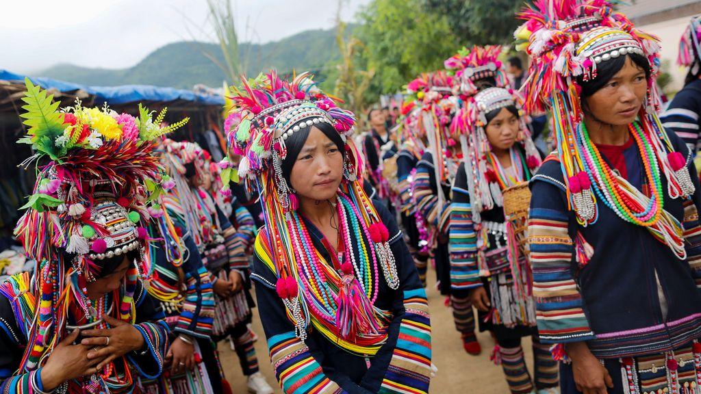 Festival en una aldea de Birmania