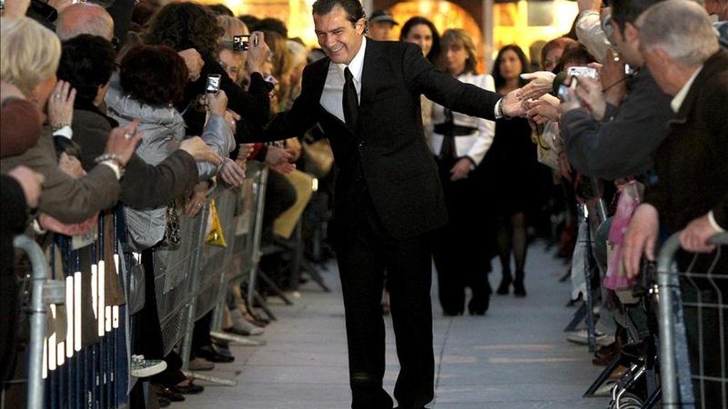 El actor Antonio Banderas a su llegada a la inauguración del Museo Carmen Thyssen Málaga en el Palacio de Villalón, el pasado 24 de marzo. EFE/Archivo