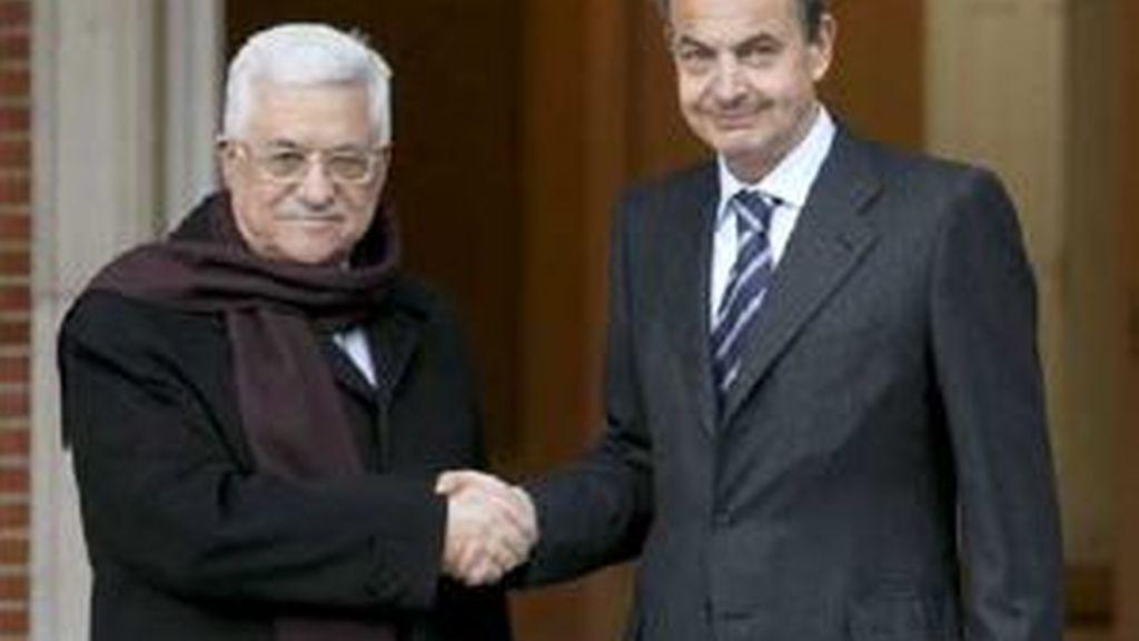 Abbás y Zapatero se han reunido en la Moncloa. Vídeo: Atlas