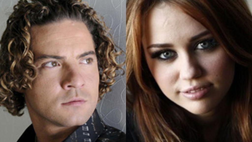 David Bisbal cantará junto a Miley Cyrus en la banda sonora de la película 'The Last Song'. Fotos: AP/EFE/Archivo