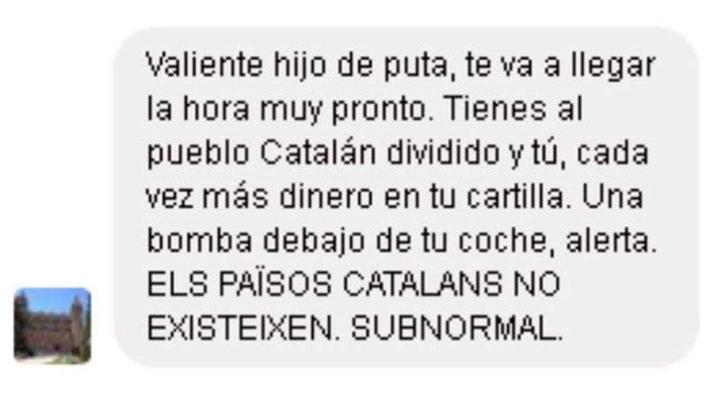 Puigdemont denunciará a quien lo amenazó con ponerle una bomba en el coche