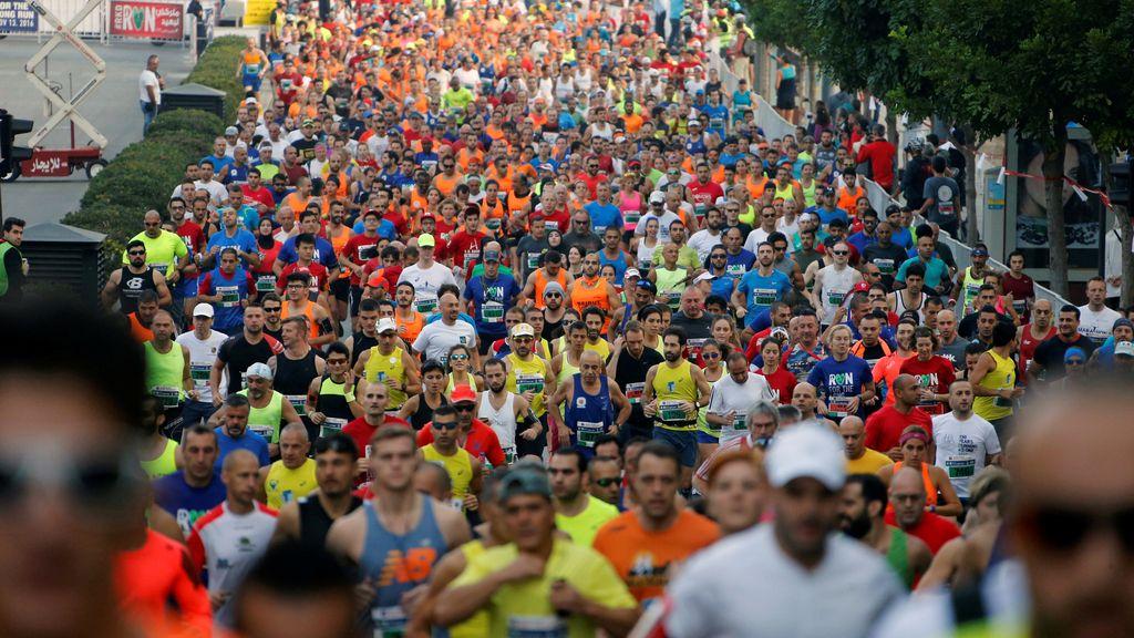 Maratón de Beirut llena de personas apasionadas por el deporte