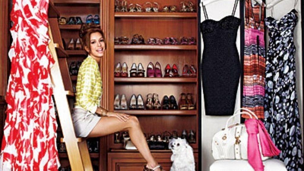 El impresionante y equilibrado vestidor de Eva Longoria