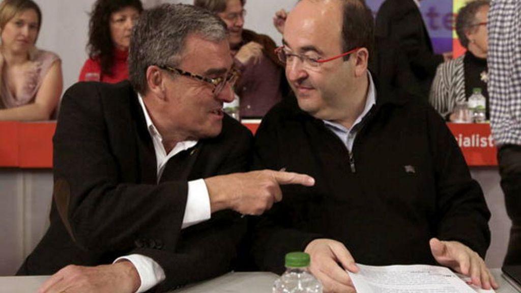 Ángel Ros, Miguel Iceta, PSC