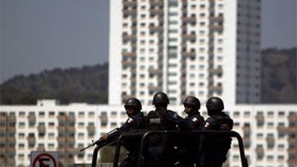 Policías patrullan en México. Foto: AP