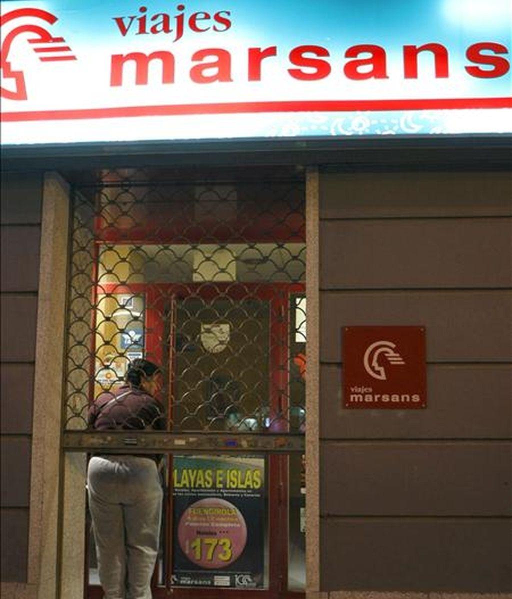 Vista de la fachada de una Agencia de Viajes Marsans en el centro de Madrid. EFE/Archivo