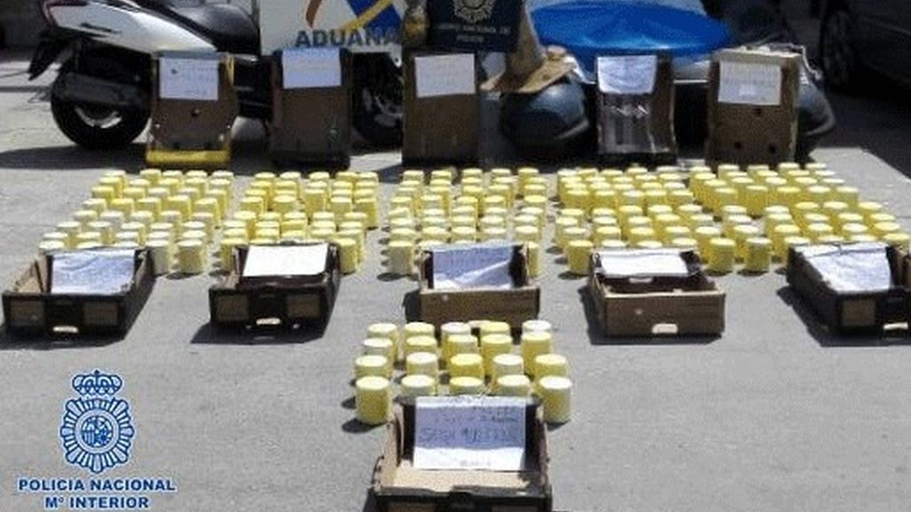 Intervenidos en Algeciras 200 kilos de cocaína ocultos en piñas frescas llegadas de Centroamérica